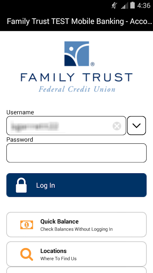 Family Trust Mobile Banking - screenshot