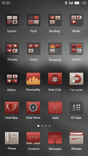 Simple and Red Hola Theme screenshot 2