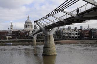 Photo: Millenium Bridge looking toward St. Paul's Cathedral