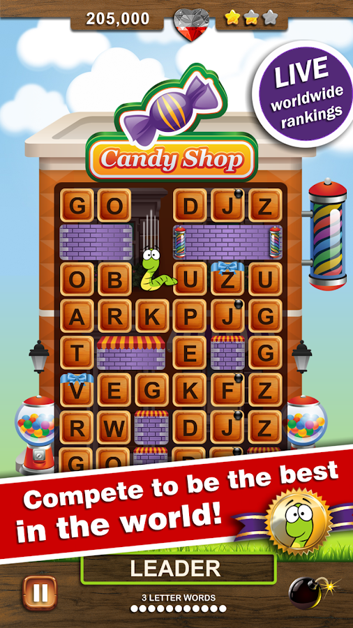 Word Wow Big City: Help a Worm- screenshot