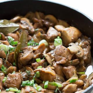 One-Pan Chicken in Mushroom Sauce.