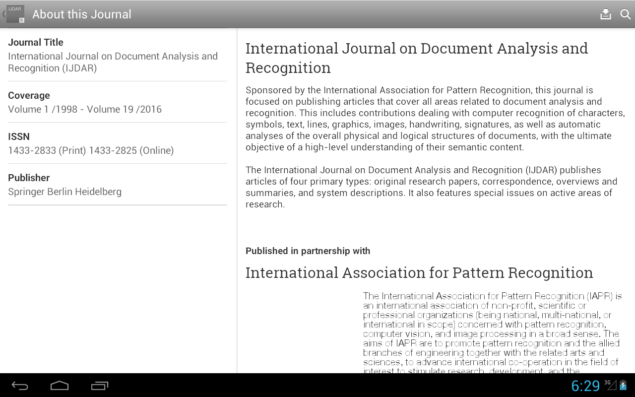 IJ Doc Analysis & Recognition- screenshot
