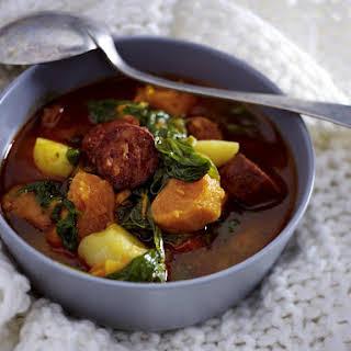 Portuguese Sweet Potato Soup with Sausage.