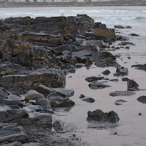 peaceful beach by Tony Dominguez - Novices Only Landscapes ( novice, ocean, beach, landscape, rocks )