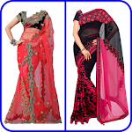 Net Saree Photo Suit Editor For Women Icon