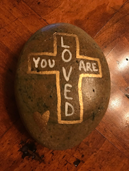 Painting Inspirational Messages on Stones