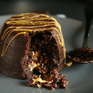 Peanut Butter and Chocolate Coulant [Vegan].