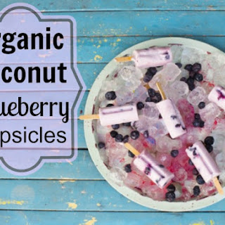 Organic Coconut Blueberry Popsicles Recipe