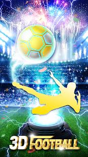 Shiny Gold Football 3D Theme - náhled