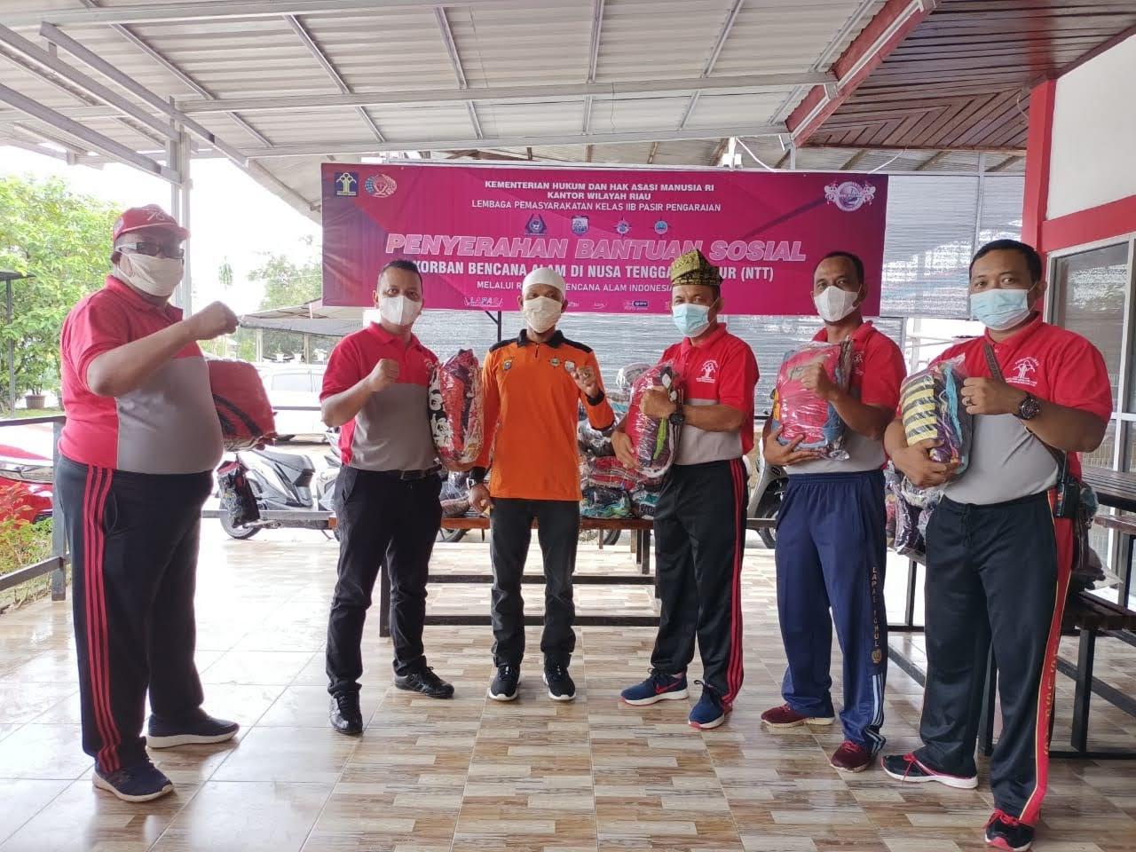 HBP KE-57, Lapas Pasir Pengaraian Besam Komonitas di Rohul Serahkan Bntun Sosial Bencana Alam NTT
