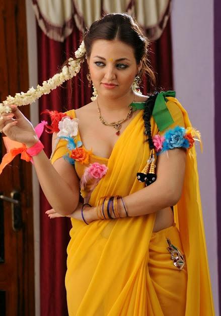 Sana Oberoi in yellow saree