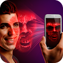 Projection: Horror Face. Joke icon