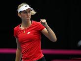 Elise Mertens wint ook haar tweede enkelpartij en brengt België opnieuw op voorsprong