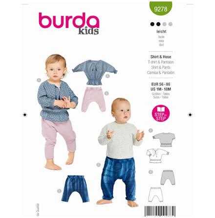 Burda 9278 - Byxa Tröja - Baby