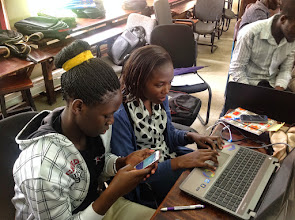 Photo: Lady student developers