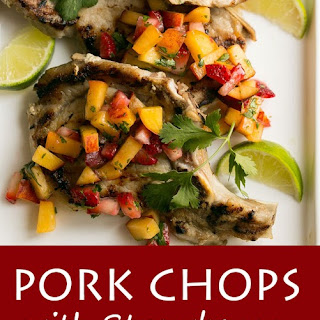 Grilled Pork Chops with Strawberry Peach Salsa Recipe