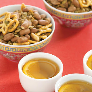 Chinese Five-Spice Snack Mix with Orange Jasmine Tea