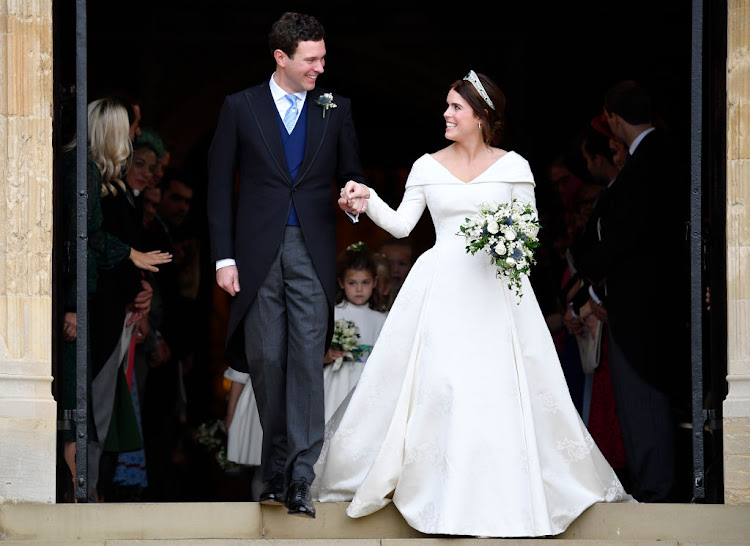 Princess Eugenie's wedding dress was designed by Peter Pilotto and Christopher De Vos, founders of British label Peter Pilotto.