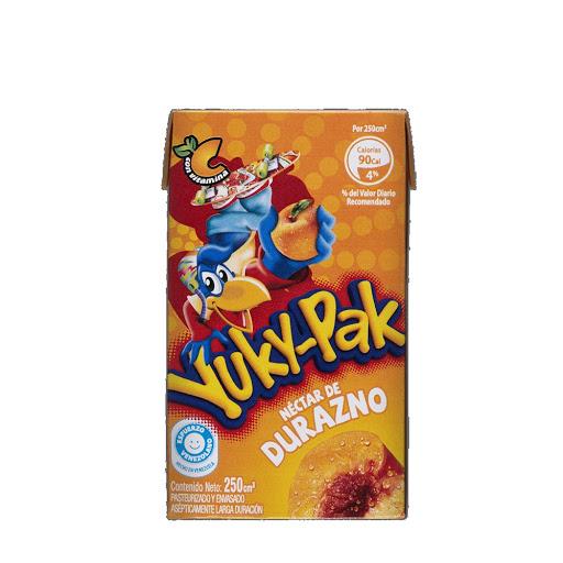 Jugo Yuky-Pak Durazno 250mL 90 Cal + Vitamina C