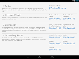 Screenshot of Endesa Clientes