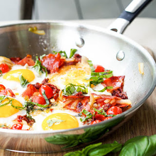 Chorizo Breakfast Egg Skillet {Gluten-Free}