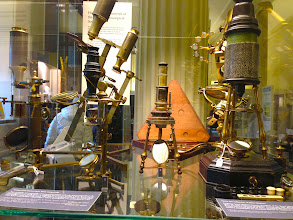 Photo: Part of Museum of the History of Science's extensive microscope collection
