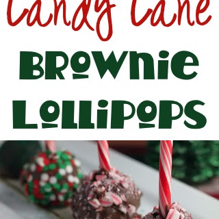 Candy Cane Brownie Lollipops