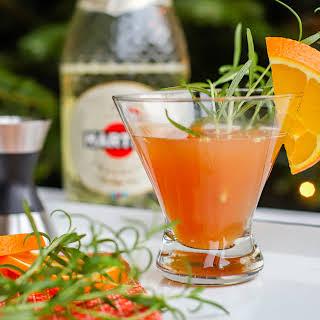 Orange Pomegranate Prosecco Cocktail.