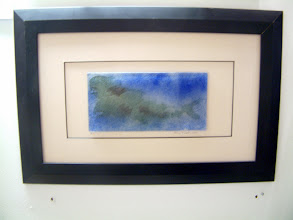 Photo: 'Koi Carp', 2008 - fused stained glass, 8x15cms, framed - STUDIO SALE £60