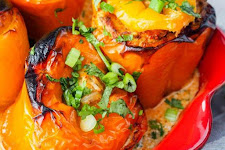 Chicken Tikka Stuffed Capsicums