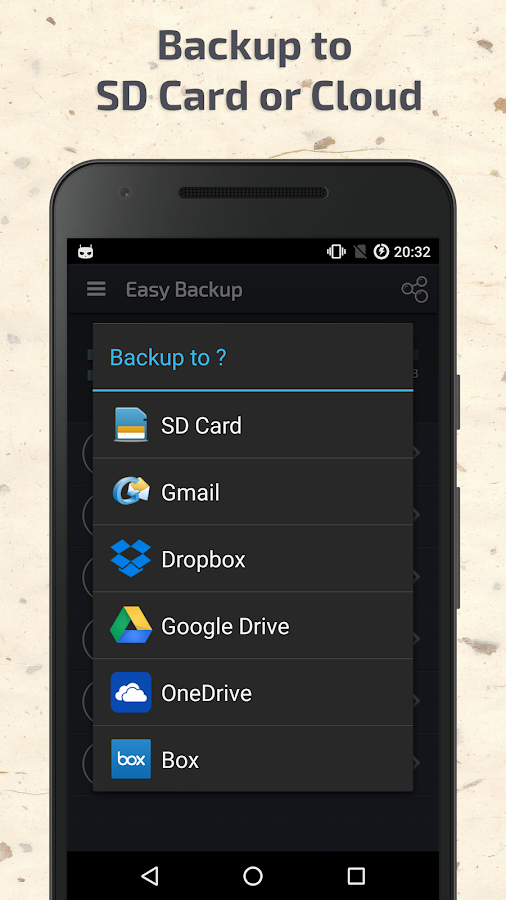 Easy Backup & Restore- screenshot