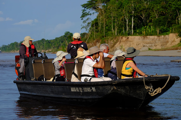 Into the jungle: the expedition deep in the amazon in a skiff.