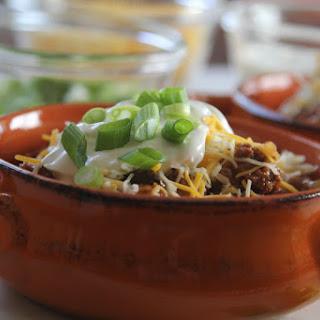Slow Cooker Turkey Chili Bowls
