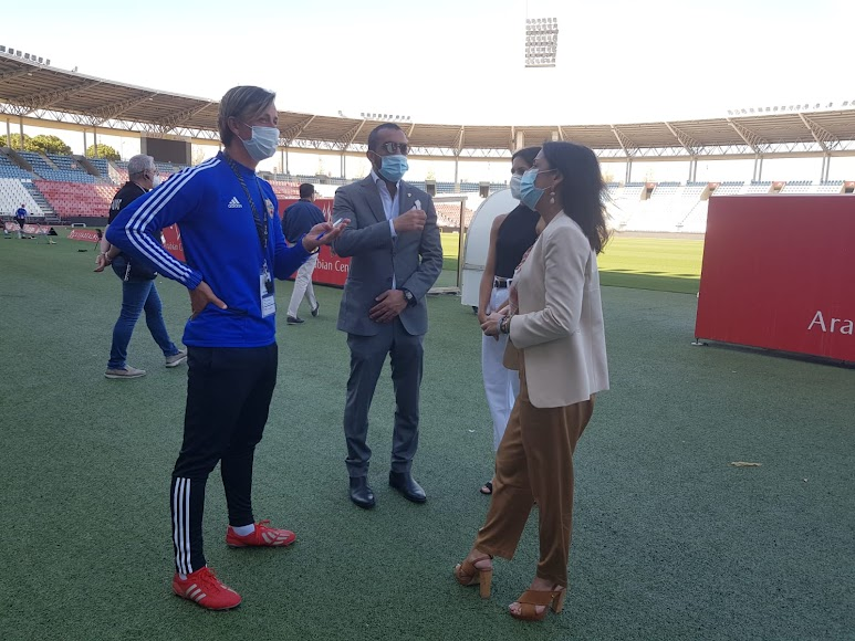 Guti, Mohamed El Assy y Marta Bosquet.