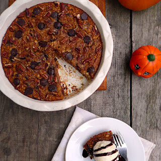 Pumpkin Chocolate Chip Oatmeal Pie for #Choctober