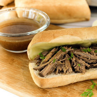 5 Ingredient Crock-pot French Dips.