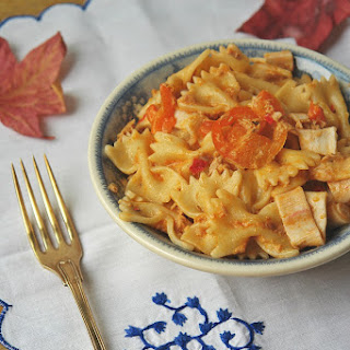 Farfalle with Tuna and Surimi.