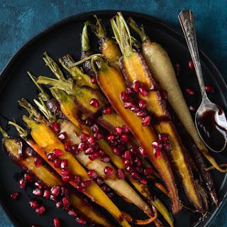 Maple And Pomegranate Glazed Carrots.