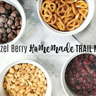 Super Easy Pretzel Berry Homemade Trail Mix.