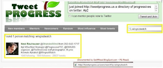 Photo: http://tweetprogress.us/search?q=wingnutwatch  Note the term being search at the end of the url. The results for this search are now deleted on the site.