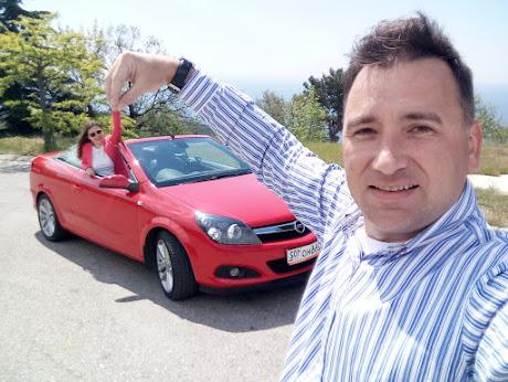 Красный кабриолет напрокат в Крыму