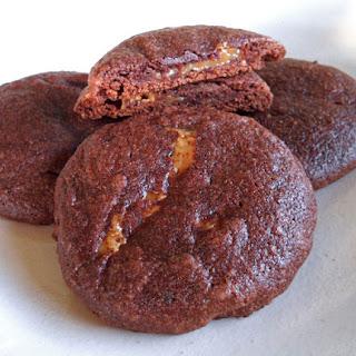 Dulce de Leche Brownie Mix Cookies.