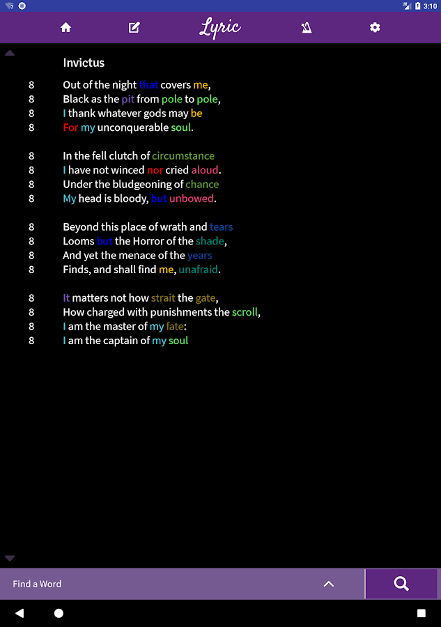 Lyric: Songwriting, Poetry, Lyrics, & Rap Notepad - Android Apps ...