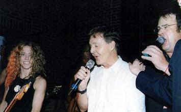 Photo: With John McCartney and Dan Akyroyd (2001)