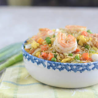 African Carribean Shrimp Fried Rice.
