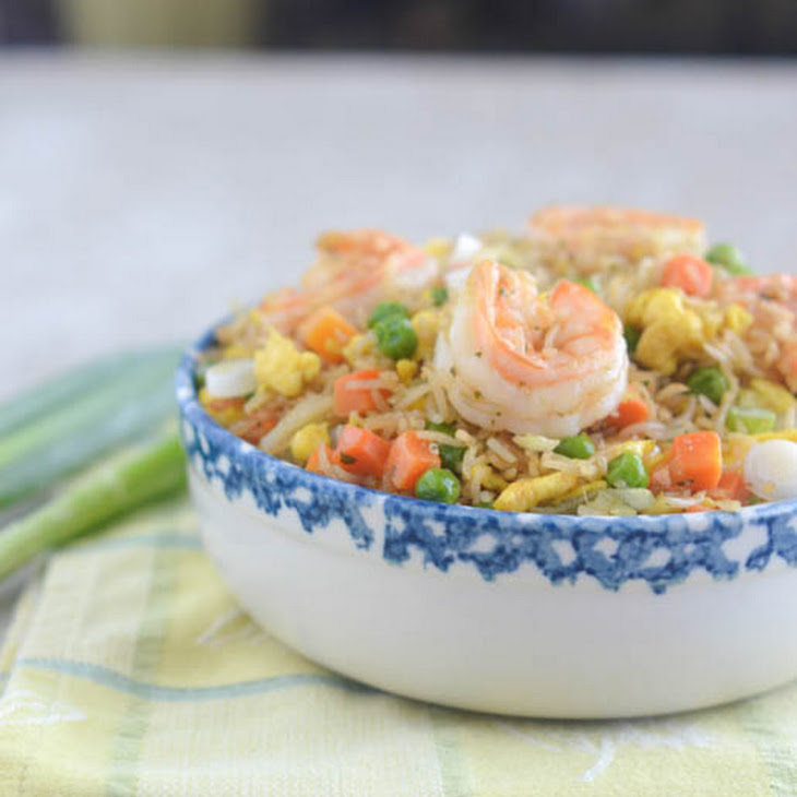 African Carribean Shrimp Fried Rice