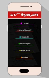 job cv maker pdf resume builder screenshot thumbnail