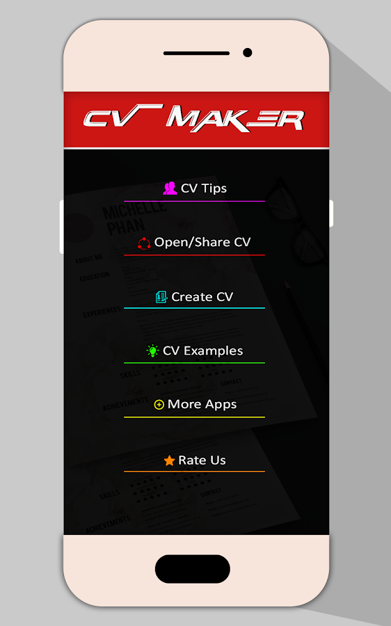 job cv maker pdf resume builder screenshot