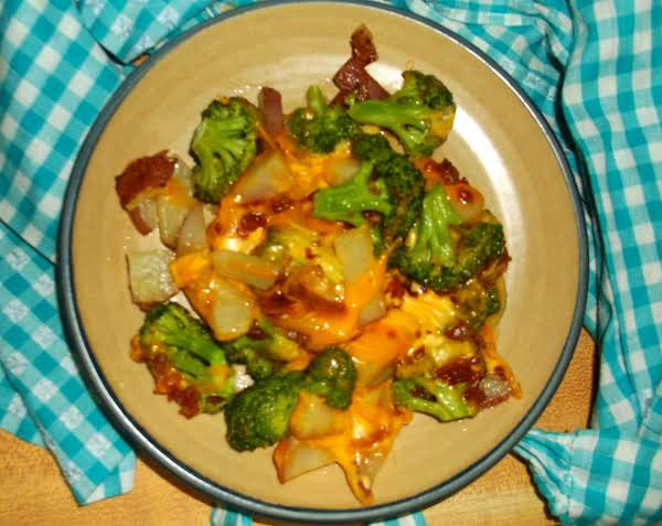 Cheesy Roasted Potatoes & Broccoli For Two Recipe