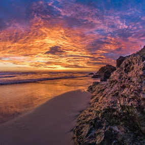 by Dom Del - Landscapes Sunsets & Sunrises ( clouds, sand, color, colors, sea, ocean, sunrise, rocks )